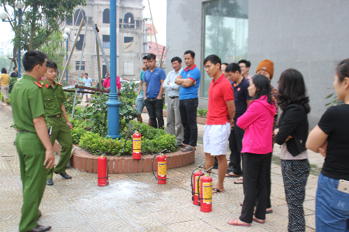 Tập huấn PCCC và cứu hộ cứu nạn tại dự án P.H Center Hưng Yên