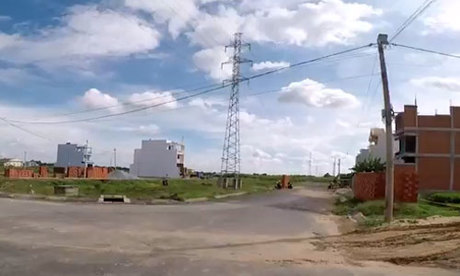 Đất nền một dự án tại xã Phong Phú, thuộc khu Nam Sài Gòn. Ảnh chụp từ video của môi giới