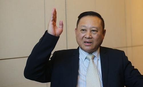 Ông Steven Loh, Tổng giám đốc Fico Pan United chia sẻ công đoạn đúc, đổ móng và bơm bê tông lên tầng cao cho Landmark 81 đầy khó khăn. Ảnh: Quỳnh Trần