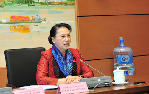 Bà Nguyễn Thị Kim Ngân - Chủ tịch Quốc hội. Ảnh: ĐBND