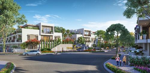 Không gian sống xanh tại dự án Thang Long Home - Hưng Phú