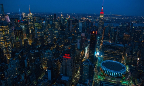 Thành phố New York (Mỹ) nhìn từ trên cao. Ảnh: Bloomberg
