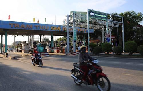 Trạm thu giá Bến Thuỷ (Nghệ An). Ảnh: Nguyễn Khải