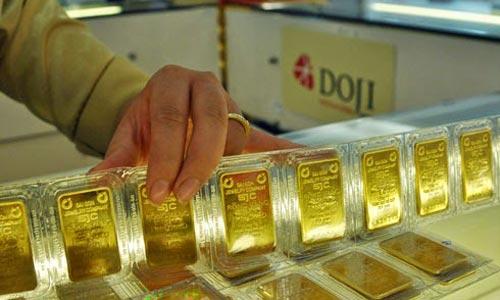 USD tăng, vàng miếng đi xuống