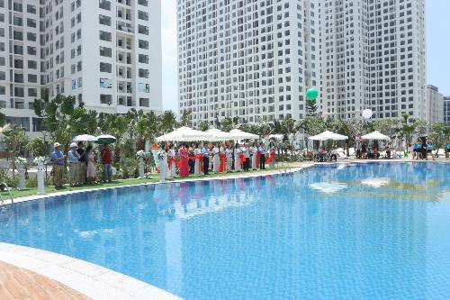Khu bể bơi là một trong những điểm nhấn của An Bình City.