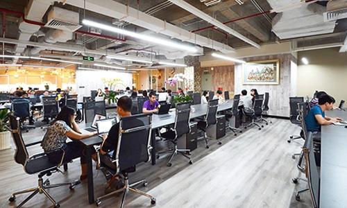 Một mô hình văn phòng chia sẻ đang hoạt động tại TP HCM. Ảnh: Dreamplex