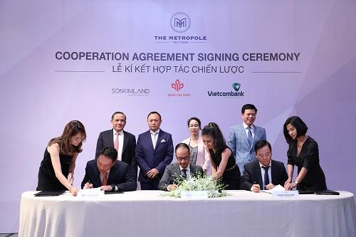Quốc Lộc Phát, SonKim Land và Vietcombank ký thoả thuận hợp tác chiến lược
