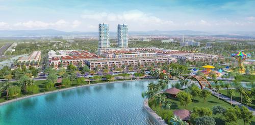 Phối cảnh dự án Barya Citi có khu phức hợp gồm nhà phố, khu căn hộ cao tầng.