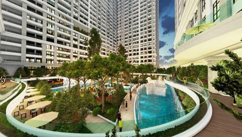 Không gian sống xanh tại Sunshine Garden Hoàng Mai
