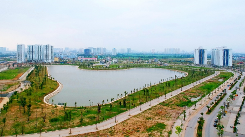Hai hồ điều hòa diện tích 30ha trong lòng khu đô thị Thanh Hà