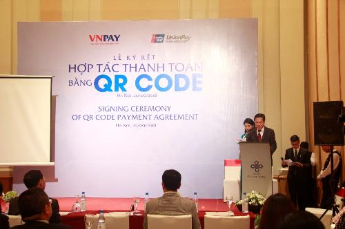 Ông Trần Trí Mạnh  Chủ tịch HĐQT công ty VNPAY phát biểu tại buổi lễ