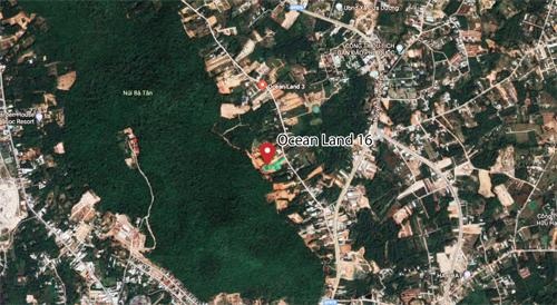 Vị trí dự án Ocean Land 16 chụp từ vệ tinh.