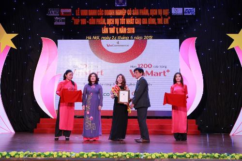 VinMart, VinMart+ vào top 100 sản phẩm, dịch vụ tốt nhất