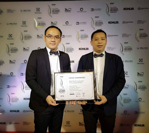 Green Pearl nhận giải thưởng về dự án trung cao cấp và thiết kế cảnh quan