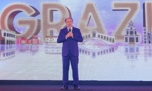 Tổng giám đốc Tập đoàn Generali, ông Philippe Donnet phát biểu ở sự kiện kỷ niệm 7 năm vận hành ở Việt Nam của doanh nghiệp.