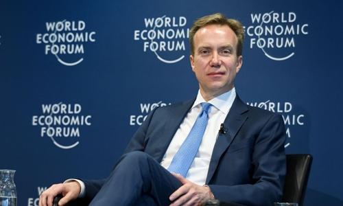 Chủ tịch WEF - Borge Brende trong 1 sự kiện hồi tháng 1. Ảnh: AFP