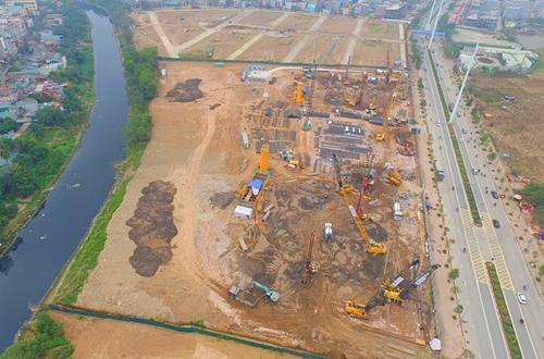 Một dự án Hải Phát Invest đang triển khai ở Hà Đông (Hà Nội). Ảnh: HPX.