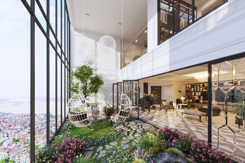 Ưu thế vị trí, tầm nhìn ở dự án căn hộ duplex Ancora