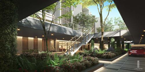 Hầm ánh sáng được thiết kế có giếng trời cộng mảng xanh môi trường xung quanh. Dự án được đầu tư và phát triển bởi TTG Holding. Webside: eden.lancaster.com.vn.