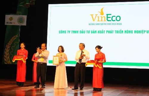 VinEco đạt giải 'Thương hiệu vàng Nông nghiệp Việt Nam'