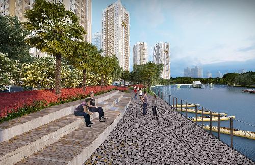 Lợi thế 3 mặt giáp sông của dự án Gem Riverside