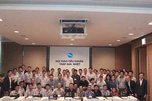 Các thành viên công ty tại một hội thảo về tiêu chuẩn tháp giải nhiệt. BAC COOLING TOWER SEMINAR 2018