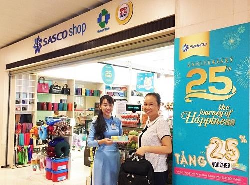 Sasco Shop tặng phiếu giảm giá 25% tiến hành cho lần mua hàng thứ hai.