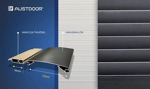 Cửa cuốn nan lớn Austdoor đột phá độ lớn gấp 2,4 lần kích thước nan cửa thông thường.