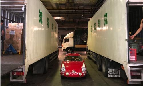 Chiếc Fiat của Woo sắp được chuyển tới California. Ảnh: Bloomberg.