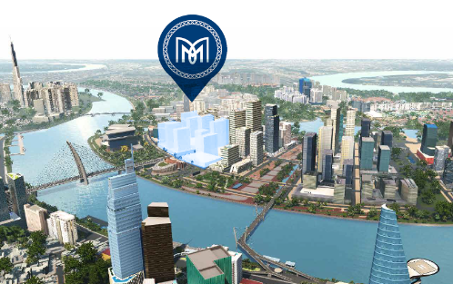 Khu phức hợp Metropole Thủ Thiêm nằm ven sông Sài Gòn