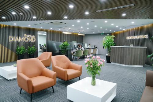 Không gian phòng mua bán VPBank Diamond Elite ở Hà Nội.