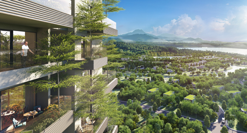 Kiến trúc vườn trên cao tại dự án Forest In The Sky