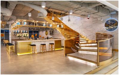 Quầy bar sang trọng sẵn sàng phục vụ khách VIP có 1 số loại thức uống Elixir.