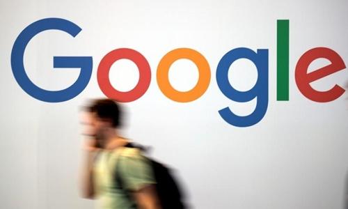 Logo Google ở 1 hội nghị về công nghệ ở Pháp hồi tháng 5. Ảnh: Reuters