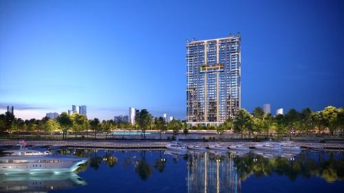 Phát triển dự án chú trọng không gian xanh là hướng đi nhiều chủ đầu tư chọn lọc. Ảnh ghép cảnh tổng thể dự án Sky89 (89 Hoàng Quốc Việt, quận 7, TP HCM) của chủ đầu tư An Gia Investment.