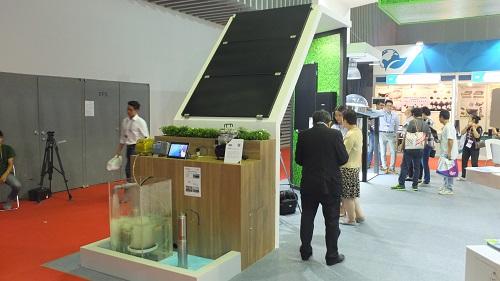 Gian hàng sản phẩm xanh ở gồm có ba khu vực chính.