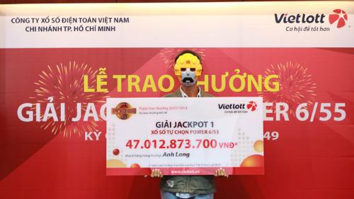Anh xe ôm ở Sài Gòn trúng độc đắc 47 tỷ đồng