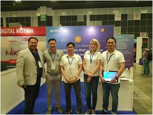 Gosama trong sự kiện Blockchain Festival được tổ chức ở Singapore.