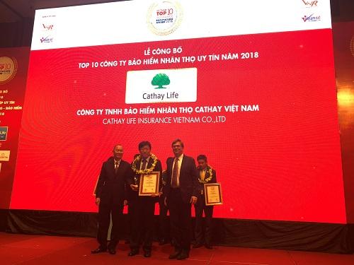 Cathay nhận bằng khen top 10 Công ty bảo hiểm danh tiếng 2018 là sự kiện đánh dấu chặng những con phố 10 làm việc của doanh nghiệp ở Việt Nam.
