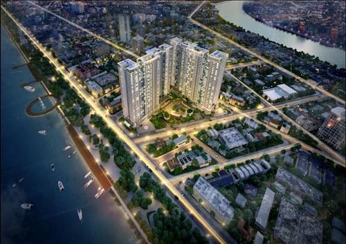 Charmington Iris ra mắt tòa tháp mới có 3 mặt hướng sông