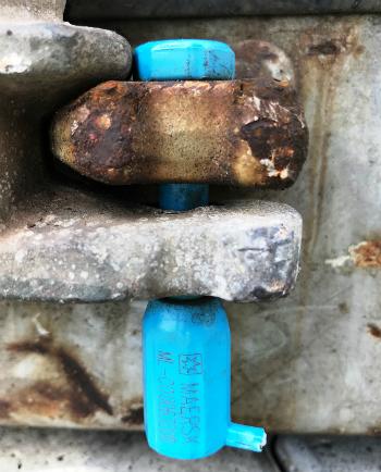 Seal trên container chứa hàng cấm có số hiệu khác so với các seal của 16 lô còn lại.