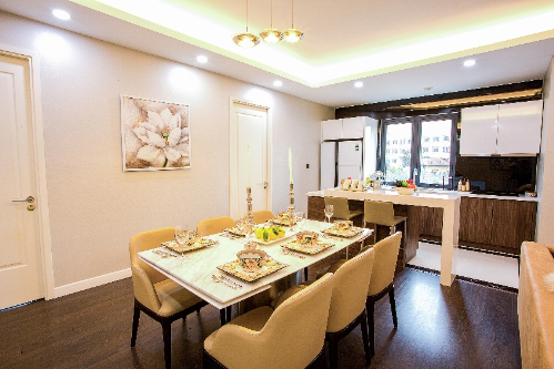 Không gian sang trọng ở căn hộ chung cư mẫu công trình nghìn tỷ khu Nam Hà Nội - 4