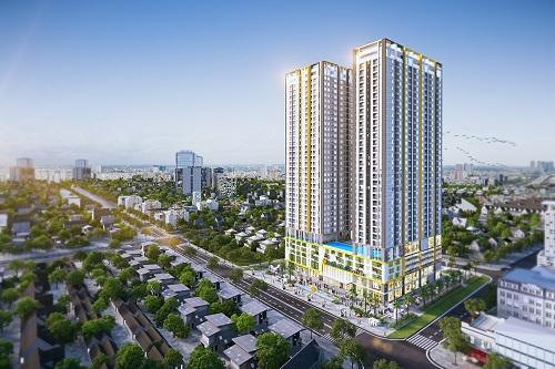 Chuyên gia nhận định căn hộ chung cư có giá vừa túi tiền phần nhiều người mua vẫn có sức tiêu thụ tốt trên phân khúc. Ảnh ghép cảnh Phú Đông Premier.