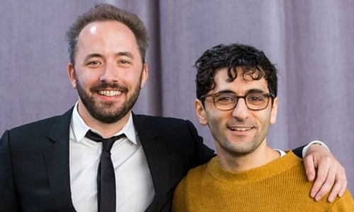 Drew Houston (trái) và Arash Ferdowsi - hai nhà đồng sáng lập Dropbox. Ảnh: Dropbox