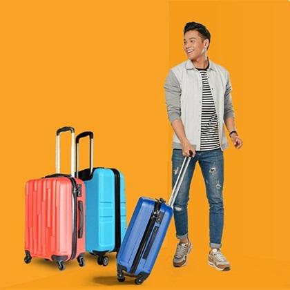 Vali du lịch giá tiết kiệm đến 50%, chỉ từ 550.000 đồng. Sản phẩm được kiến trúc tinh tế, tiên tiến có nhiều kiểu dáng, vật liệu chắc chắn.