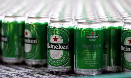 Heineken hiện chỉ chiếm 0,5% thị phần bia ở Trung Quốc. Ảnh: Reuters