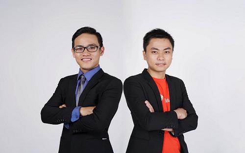 Hai đồng sáng lập Lê Văn và Mai Như Chiến (từ trái sang).