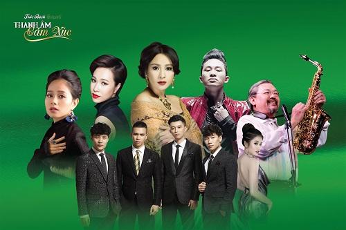 Trúc Bạch concert Thanh âm cảm xúc có sự góp mặt của một số ca sĩ, nhạc sĩ như Quốc Trung, Thanh Lam, Tùng Dương, Uyên Linh...