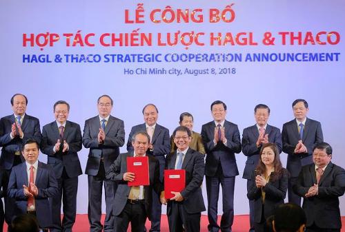 Lễ ra mắt hợp tác chiến lược giữa Hoàng Anh Gia Lai và Trường Hải.