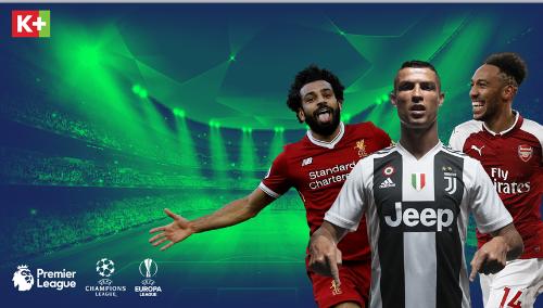 Khán giả có thể xem Ngoại hạng Anh, Champions League, Europa League được phát sóng trực tiếp trọn vẹn duy nhất trên một vài kênh K+.